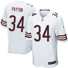 95498d557  79.99 Men s Nike Chicago Bears  34 Walter Payton Game Away White Jersey  Walter Payton