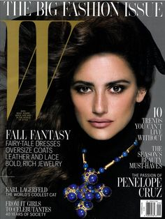 Penelope Cruz Covers 'W' Magazine - September 2012 #PenelopeCruz #WMagazine