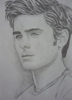 drawing zac efron easy drawings sketches portraits