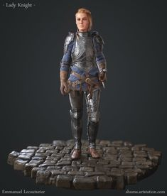 Lady knight – Realtime 3D Character by Emmanuel Lecouturier – cgvilla