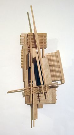 Construction Series: Sculptures Inspired by Architectural Model Making Techniques