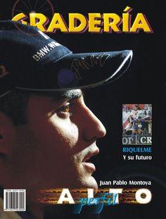 Tapa # 24 / Noviembre de 2001.  El gran Juan Pablo Montoya nos dió mucha felicidad con su llegada a la F1 para ponerle pimienta a su duelo contra Schumacher. En ese entonces, la revista ya contaba con la facilidad de bajar las fotos vía internet a través de los servicios de AFP. Imagen de estudio espectacular que enriqueció la tapa.  www.revistagraderia.co