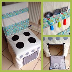 Play Kitchen Chair Cover ~ Space-Saving Pretend Role Play Toy Tent ~ Unique…