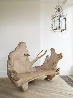 Rose Uniacke – Shop – A Large Yew Wood Bench. This root furniture works better inside than in a garden. Rose Uniacke – Shop – A Large Yew Wood Bench. This root furniture works better inside than in a garden. Driftwood Furniture, Log Furniture, Driftwood Art, Unique Furniture, Furniture Design, Into The Woods, Wooden Decor, Wooden Diy, Diy Wood Projects
