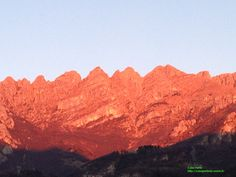 The yesterday's sunset on Resegone (Lake Como - Italy)! By Casa Irene http://casaperledo.xoom.it/