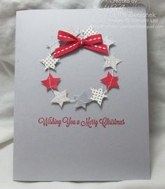 Cute!! Lyssa used the stamp and star garland from the Noel Paper Pumpkin kit to make this and several other cards.
