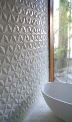 www.inyourkingdom.com White Relief Wall for the #Bathroom