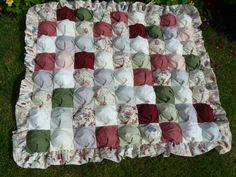 Biscuit Quilt Size 38'x42'  completed in 2014