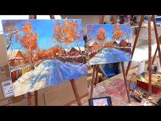 Process of creating oil painting from Oleg Buiko. Небольшой этюд - YouTube