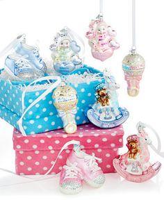 Kurt Adler Baby's First Ornament Gift Set