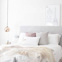 Blush, White and Grey: Bedroom Inspiration - The Luxury Mindset For Success Clean Bedroom, Home Decor Bedroom, Bedroom Ideas, Bedroom Cleaning, Blush Bedroom, Master Bedroom, Luxury Bedroom Design, Luxury Interior Design, Home Living
