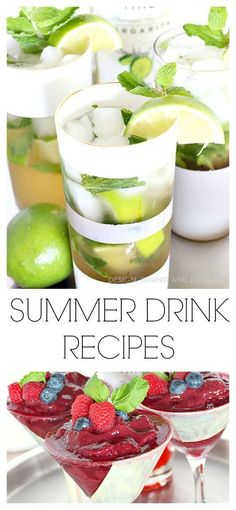 Summer Drink Recipes using Sandra Lee Cocktail Time
