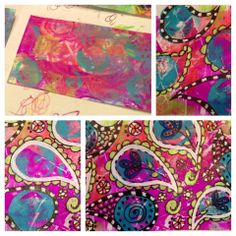 Gelli inspired Index Card A Day (ICAD) by Stacy Spangler otherwise known as Sleepyhead Designs Studio!