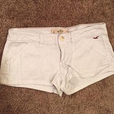 White Hollister shorts! White comfortable shorts! Hollister Shorts Jean Shorts