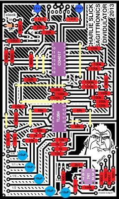 Sagittronics : Charlie Slick: Square wave sub oscillator based on the CD4017