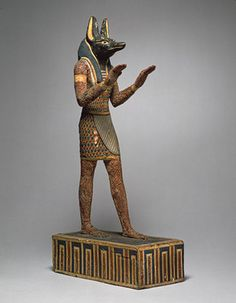 Statuette of the god Anubis as embalmer, Ptolemaic Period, ca. 332–30 B.C. Egyptian.