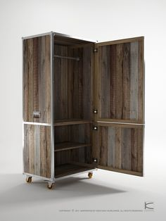 Karpenter designed a collection ofrepurposedteak wood furniture that has the presence of rustic and vintage style with a twist of modern appeal. The collection provides innovative storage solutions where chest and shelf units are all on wheels so you can easily move them around. These would make us feel a little better about the idea …