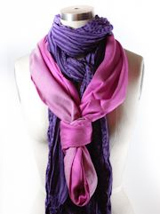 How to tie a scarf-- Double Scarf Loop Knot