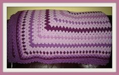 Hand Crocheted Twin Size Afghan in Shades of by NortherNights, $50.00