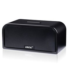 Bluetooth Speaker, iXCC Portable Wireless Dual-Driver Bluetooth 4.0 Stereo Speaker with Enhanced HD Bass, Built-in Mic and Aux Input Jack - Black
