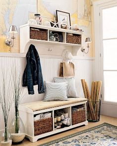 cute for a small mudroom  found similar mudroom idea/furniture on pottery barn website