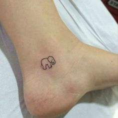 Adorable Tiny Elephant Tattoo small baby elephant ankle tattoo tiny--i would like this with his trunk up.small baby elephant ankle tattoo tiny--i would like this with his trunk up. Tiny Tattoos For Girls, Cute Tiny Tattoos, Mini Tattoos, Beautiful Tattoos, Body Art Tattoos, Tatoos, Head Tattoos, Small Ankle Tattoos, Little Tattoo For Girls
