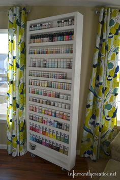 How Amazing is This ? Craft/Paint Shelf with Hidden Door !! Excellent Tutorial by @Beckie Farrant {infarrantly creative}