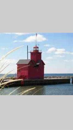 Holland harbor light known as Big Red