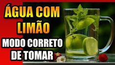 ÁGUA COM LIMÃO - Como Tomar  #aguacomlimao  #comotomaraguacomlimao Pickles, Cucumber, Youtube, Lemon Lime Water, Lose Belly, Get Lean, Loosing Weight, Water, Pickle