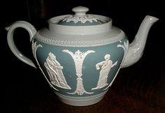 Dudson Jasperware Teapot. English C. 1880.....elegant!