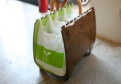 Sweet recycling bin! 2005 London Desing Festival award winner!! Wonder if we could make something like this that uses regular plastic grocery bags?