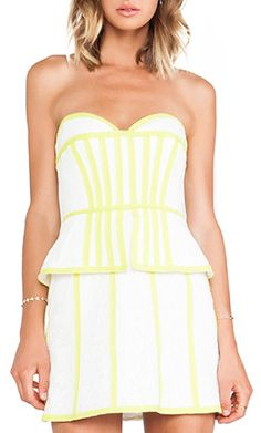 summer time #yellow strapless dress http://rstyle.me/n/j3725r9te