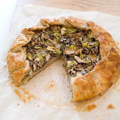 Mushroom and Leek Galette with Gorgonzola