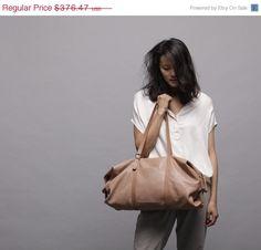 nude!   Leder Tasche Reisetasche BagTommy von LadyBirdesign auf Etsy, $282.00