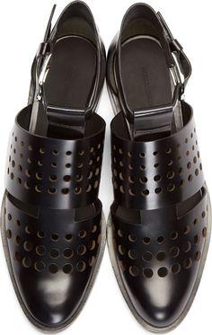 Alexander Wang: Black Leather Lyoka Shoes