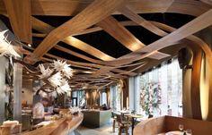 Dintelo.es: Blog colectivo, decoración, interiorismo, arquitectura. Imagen del restaurante Ikibana en Barcelona