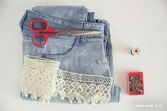 DIY boho lace shorts