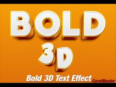 CorelDraw Tutorial: How to make Bold Text Effect Corel Draw Tutorial, Youtube Time, Blend Tool, 3d Text Effect, Polaroid Photos, Good Tutorials, Seamless Background, Text Effects, Coreldraw