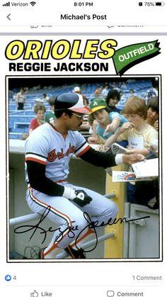 Pro Baseball, Baseball Photos, Baseball Cards, Michael Post, Reggie Jackson, Home And Away, Trading Cards, Mlb, Alternative
