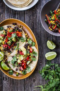 Simple vegan tacos