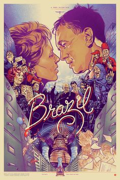 Brazil by Martin Ansin - My favorite movie of all time! Absolutely stunning poster!