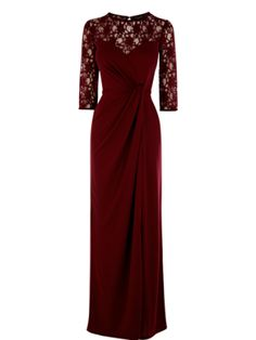 We can't think of a more complimentary colour for a winter wedding dress than deepest burgundy. Delish. Lace insert maxi dress, £45, warehouse.co.uk How to choose the perfect wedding dress What to wear to a job interview SHOP daily fashion finds for £10 or less