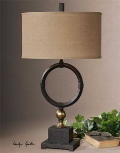 Uttermost Pueblo Black Circle Table Lamp