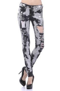 Jazz Black Tye Dye Jeans 1X 2X 3X