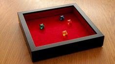 Tabletop Dice Tray with felt liner.  Get your in our Etsy shop: https://www.etsy.com/se-en/listing/530321096/tabletop-dice-tray-with-felt-liner  Toys & Games  Games & Puzzles  Dice & Tile Games  dice  tray  board games  role playing games  rpg  box  dnd destiny  dicemasters  risk  board game  game  boardgame