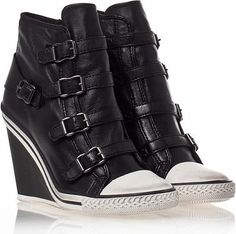 Ash Thelma Ter Leather Wedge Sneakers