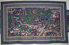 Hmong Quilt, came about in refugee camps of Thailand.