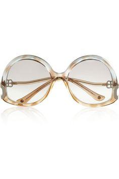 604a6fc6098 Balenciaga Oversized round-frame sunglasses Round Frame Sunglasses
