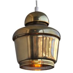"""""""Golden Bell"""" By Alvar Aalto   From a unique collection of antique and modern chandeliers and pendants at https://www.1stdibs.com/furniture/lighting/chandeliers-pendant-lights/"""