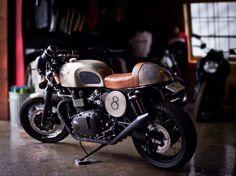 Tyler Florences Triumph Bonneville Cafe Racer Custom by Michael McDonald